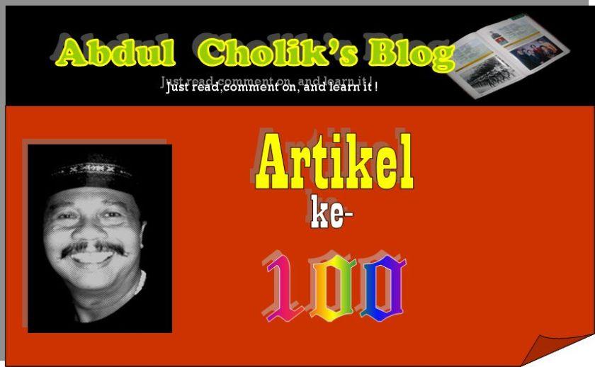 BLOG ARTIKEL 100
